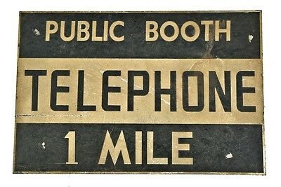 "1930's American Depression Era Reflective ""public Booth"" Informational Tourist S"
