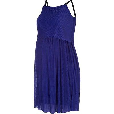 Mamalicious Maternity & Nursing 'joulie' Blue Party Cocktail Dress Bnwt Rrp £55