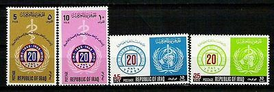 IRAQ IRAK 1968 U.N United Nations World Health Organization # 479 # 810 MNH