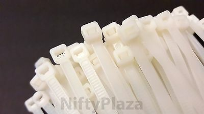 NiftyPlaza 12 Inch Cable Ties - 100 Pack Heavy Duty - 50 Lbs Nylon Zip Ties