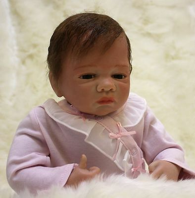 Reborn Toddler Girl Dolls 18'' 100% Handmade Real Lifelike Soft Silicone Vinyl