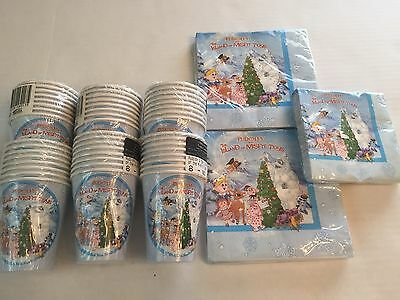 Rudolph & The Island of Misfit Toys Party Napkins & 48 Drink Cups Lot New