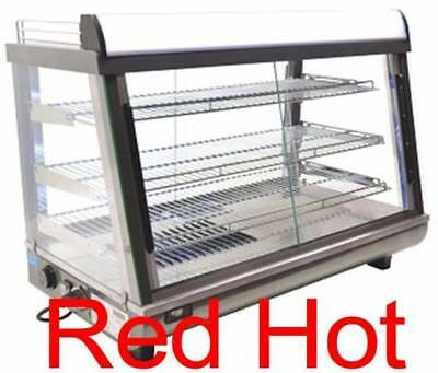 """New Omcan-39999-DW-CN-0136 Commercial 35"""" Hot Food Warmer Glass Display Case"""
