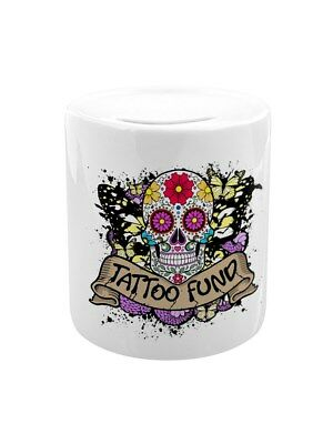 Tattoo Fund White Money Box