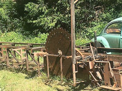 Antique Sawmill Powered By  Volkswagen Bug Included Saw Mill