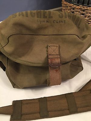 Army Satchel Signal Green Messenger Bag Canvas Military Issue (F1)