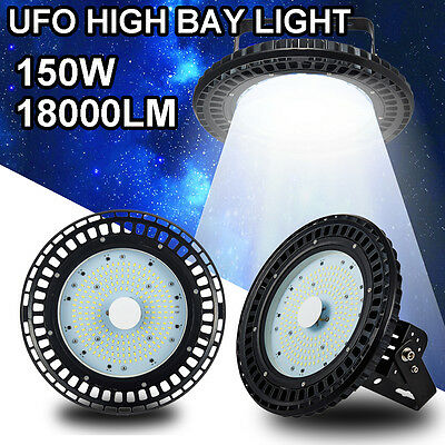 150W UFO LED High Bay Light Warehouse Industrial Factory Commercial Lamp AC240V