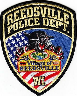 Reedsville Wisconsin Wi Police Dept Flag Black Panthers Wild Cat Rpd Pd