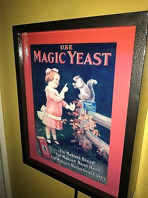 ^^^ Magic Yeast Baking Baker Kitchen Diner Squirrel Little Girl Lighted Sign