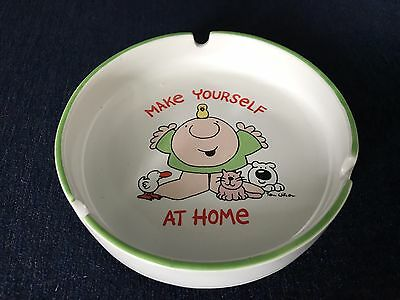 Ziggy By Tom Wilson Stoneware Ashtray Make Yourself At Home 1980