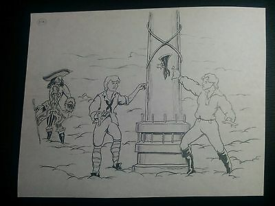 Disney's Cruise Line VOYAGE OF THE GHOST SHIP Hand Drawn Art by Mark Simon #MS7