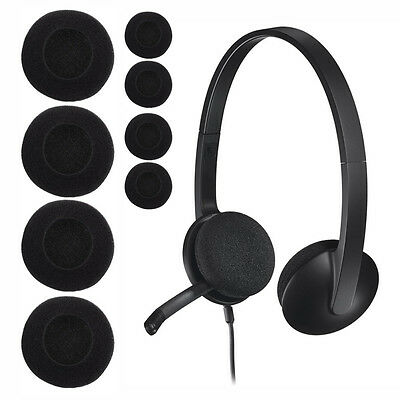 1 pair 65mm / 35mm Headset Headphone Earphone Soft Foam Sponge Ear Pads Cover