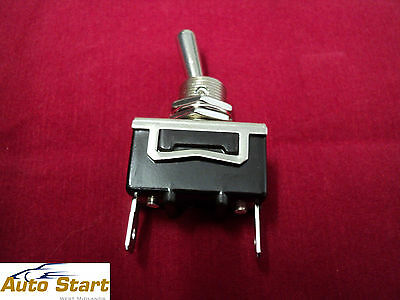 12V / 24V On / Off Heavy Duty Metal Toggle Switch 2 Terminals Car 180584