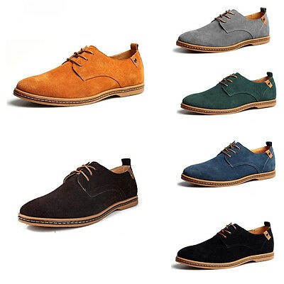 Multi Size Men's European style oxfords Leather Shoes Suede Dress Formal Casual