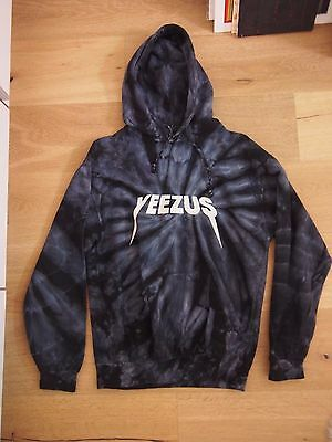 af8e52d8f1142 KANYE WEST YEEZUS Tour Merch TIE DYE Reaper Roses Hoodie SMALL - *AUTHENTIC*