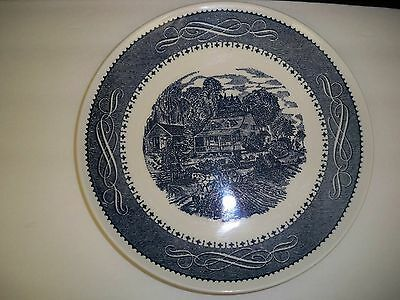 Dinner Plates (3) Taylor Smith And Taylor Currier Ives Ironstone Usa