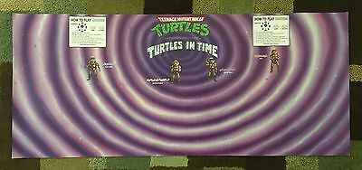 Teenage Mutant Ninja Turtles in Time Arcade Control Panel Overlay CPO Decal TMNT