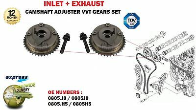 For Citroen Peugeot 0805J0 0805H5 Inlet + Exhaust Camshaft 2 Vvt Hub Gears Set