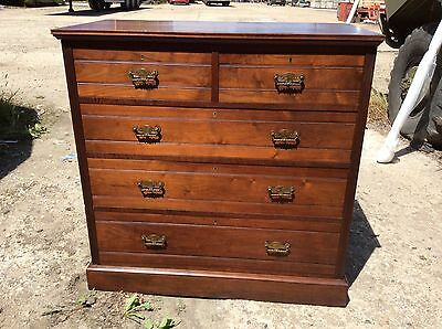 Edwardian walnut Chest Of drawers.  Maple & Co.