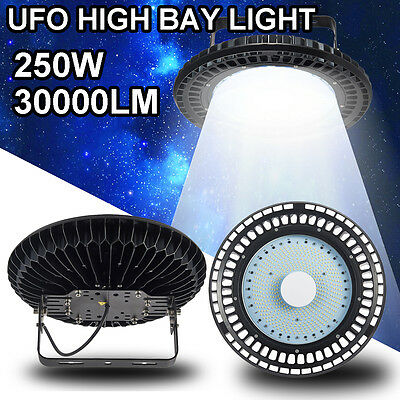 250W UFO LED High Bay Light Warehouse Industrial Factory Commercial Lamp AC240V