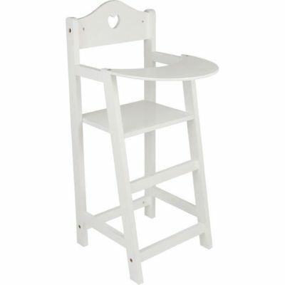 High chair for dolls in wood lacquered, toy for bambine