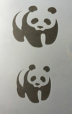 Panda Animal A4 Mylar Reusable Stencil Airbrush Painting Art Craft