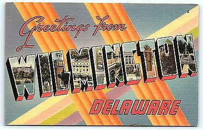Postcard DE Wilmington Large Letter Greetings from Wilmington Delaware D10