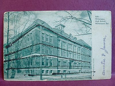 Old Postcard 1910 High School Wilmington DE