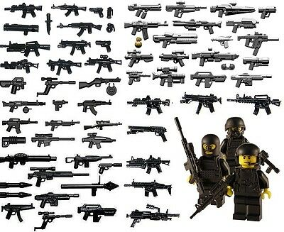 Modern Weapons & Guns Selection Inc Brickarms - Fits Lego