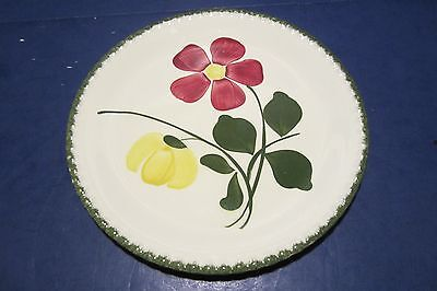 """Blue Ridge Southern Potteries Red/Yellow Daisies 9 1/2"""" Plate"""