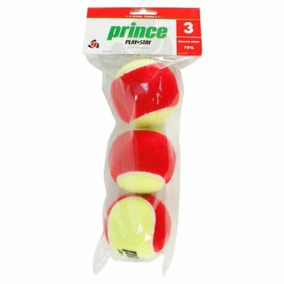 Prince Play+Stay Stage 3 Low Compression Tennis Balls