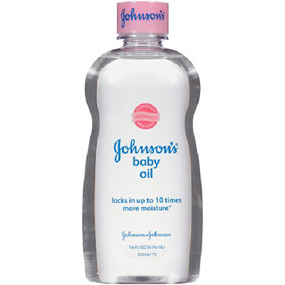 100ml Johnson's Baby Oil For Skin Locks In Moisture Dermatologically Tested NEW