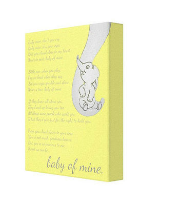 Baby Of Mine, Yellow Dumbo, Nursery Canvas, Babies Room, Toddler, Disney