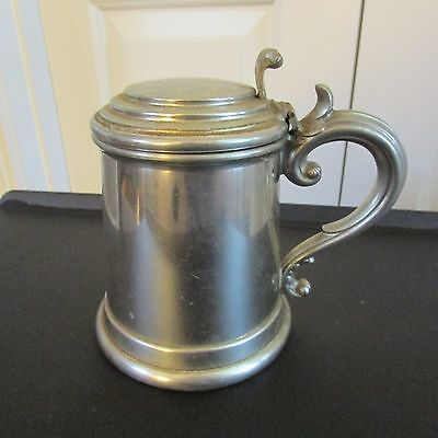"""Fine English Pewter Tankard, Made in Sheffield, England, 6 1/2"""" tall"""