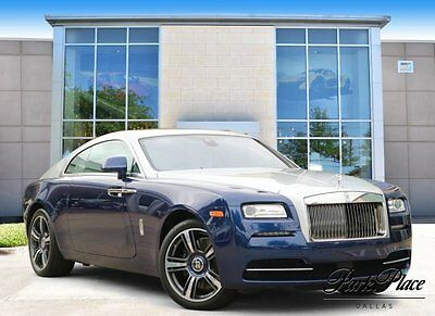 2016 Rolls-Royce Wraith Base Coupe 2-Door 2016 Coupe Used Twin Turbo Premium Unleaded V-12 6.6 L/402 Automatic RWD Blue