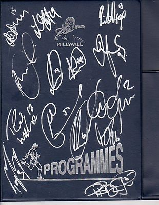 Autographed Millwall Programme Binder - 2011-12 with Harry Kane Signature