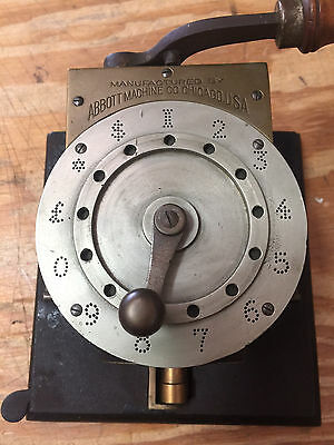 Antique Abbott Check Perforator, Writer, Protector, Punch, Patented 1889