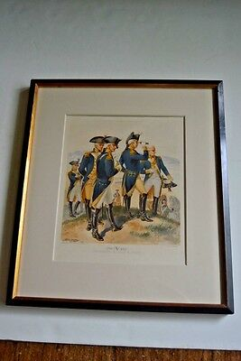 """Antique military, print from """"Uniforms of the US Army """" by HA Ogden, 1800s"""