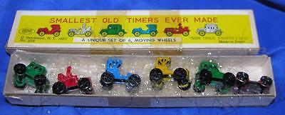 VTG MINIATURE METAL CARS grt XMAS PUTZ, SHACKMAN Smallest Old Timers Ever Made