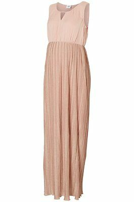 Mamalicious Maternity Misty Rose Sparkle Occasion Formal Maxi Dress Bnwt Rrp £70