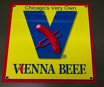 Vienna Beef Chicago hotdog sign ...restaurant fast food