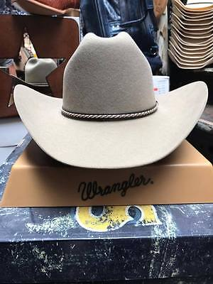 WRANGLER HAT COWBOY Hat Size 6 7 8 Light Tan made in Texas Shantung ... 614e7885152