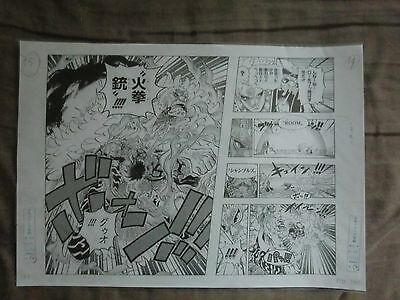 One Piece Official Manga Replica Shueisha Manuscript 2015 Luffy VS Doflamingo