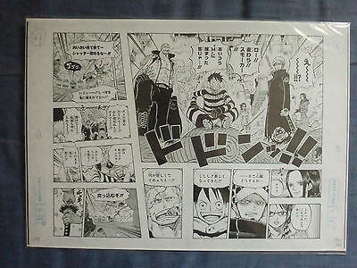 One Piece Oficial Manga Replica Shueisha Manuscript Luffy Law Smoker Punk Hazard