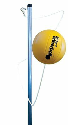 Park & Sun Sports Outdoor Yellow 3-Pole Tetherball Play Set with Accessories