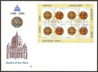 Vatican City Sc# 1332-3, St. Peter's Basilica sheets, 2 First Day Covers