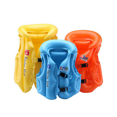 Inflatable Safety Life Jacket Vest for Child Kid Baby Learn Swimming Pool Sport