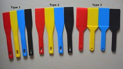 4 Pcs Ink Spatulas Screen Printing Plastic Knife Blade Ink Apply Shovel Tool