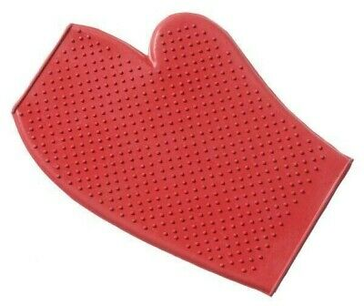 NEW Horse Dog Rubber grooming massage Mitt curry Glove Adult Size