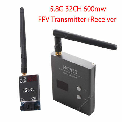 5.8G 32CH 600mw FPV Wireless Transmitter TS832+RC832 Receiver For 250 450 Quad